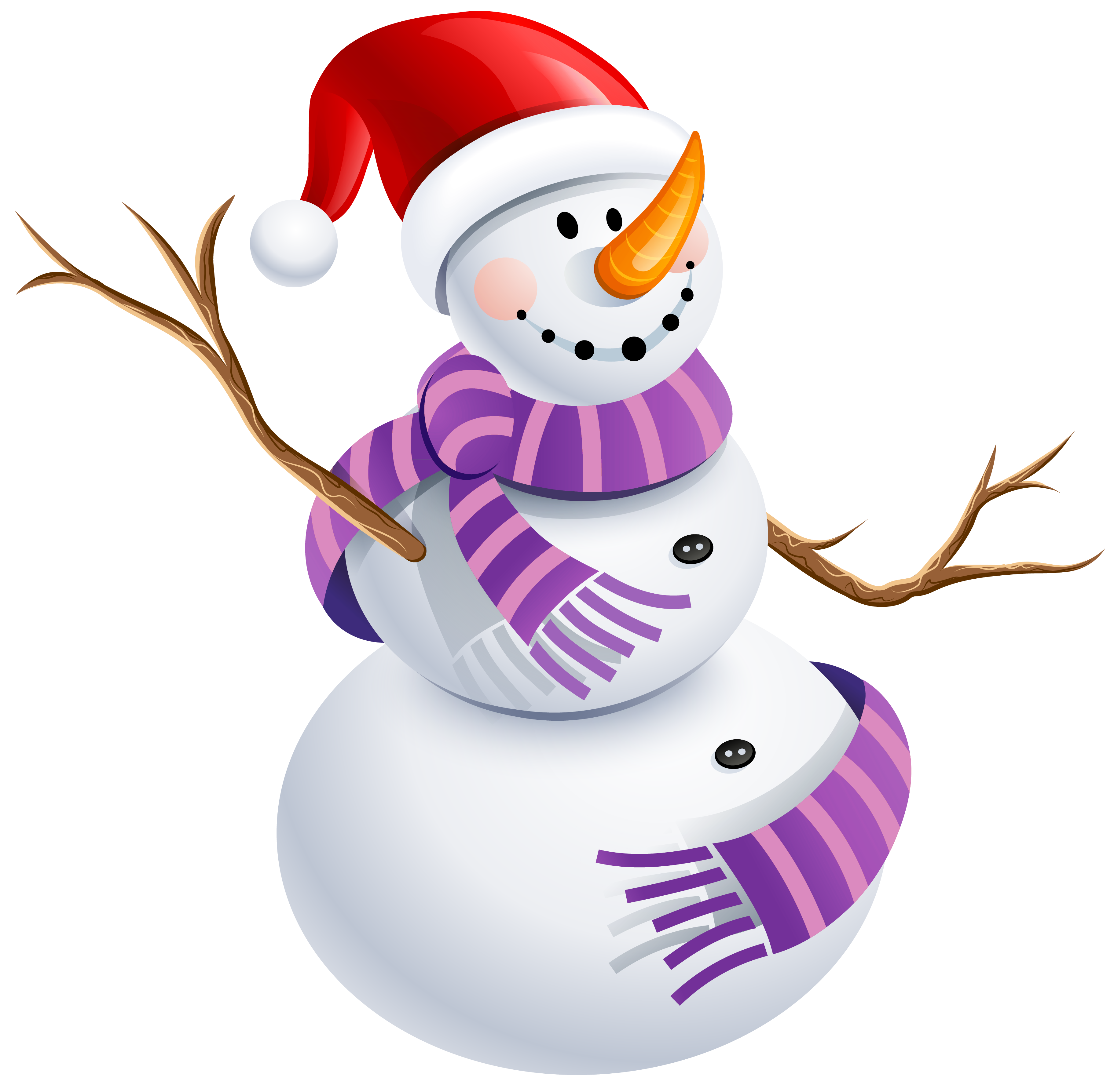 Snowman heart clipart clipart free download Snowman with Purple Scarf PNG Picture | Gallery Yopriceville - High ... clipart free download