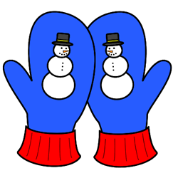 Snowman mittens clipart banner freeuse stock Winter craft for kids - mittens with a snowman. Color, cut ... banner freeuse stock