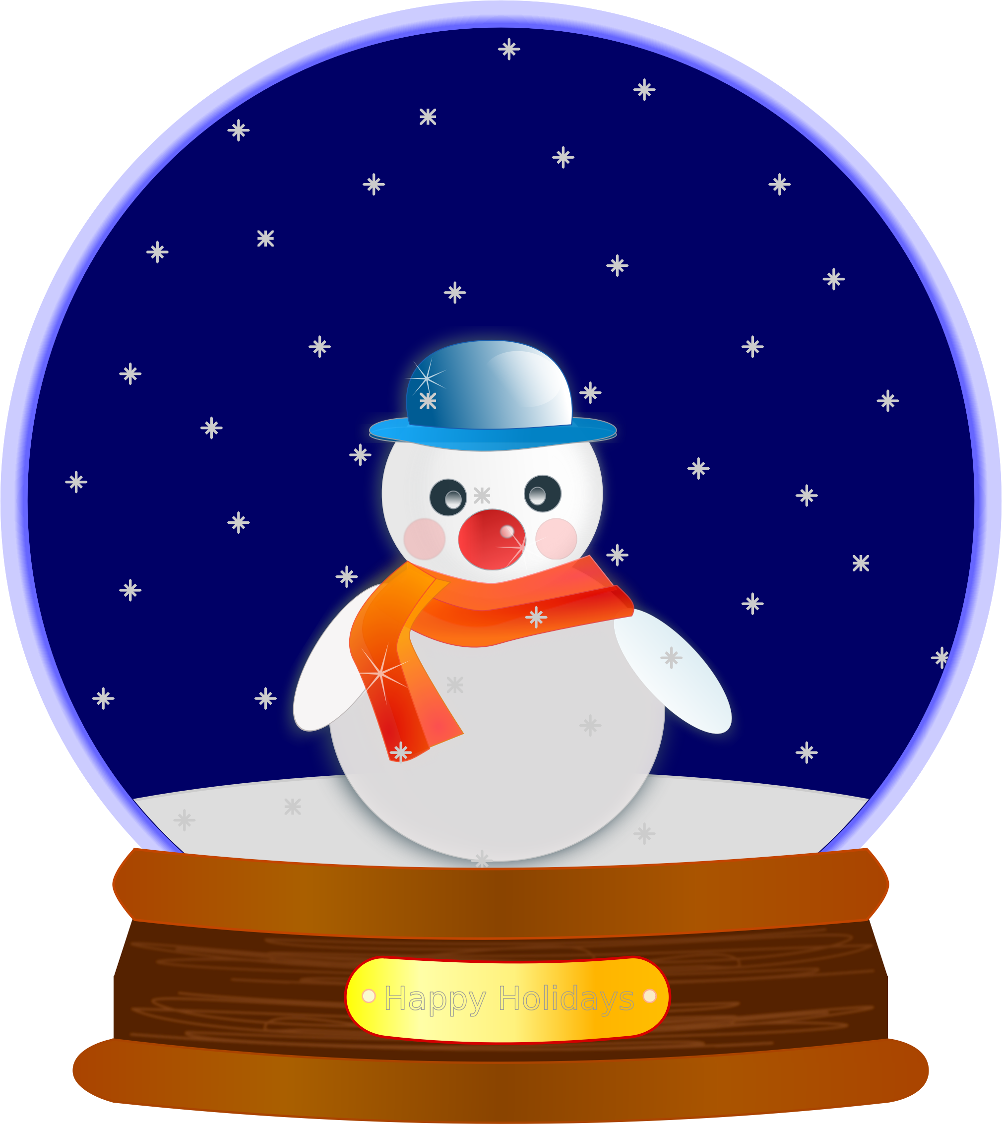 Snowman snow globe clipart jpg transparent stock Snow Globe Clipart   All About Christmas   Snow globes ... jpg transparent stock