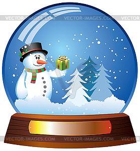 Snowman snow globe clipart banner royalty free snow globe clipart   Snow globe - vector clipart   snow ... banner royalty free