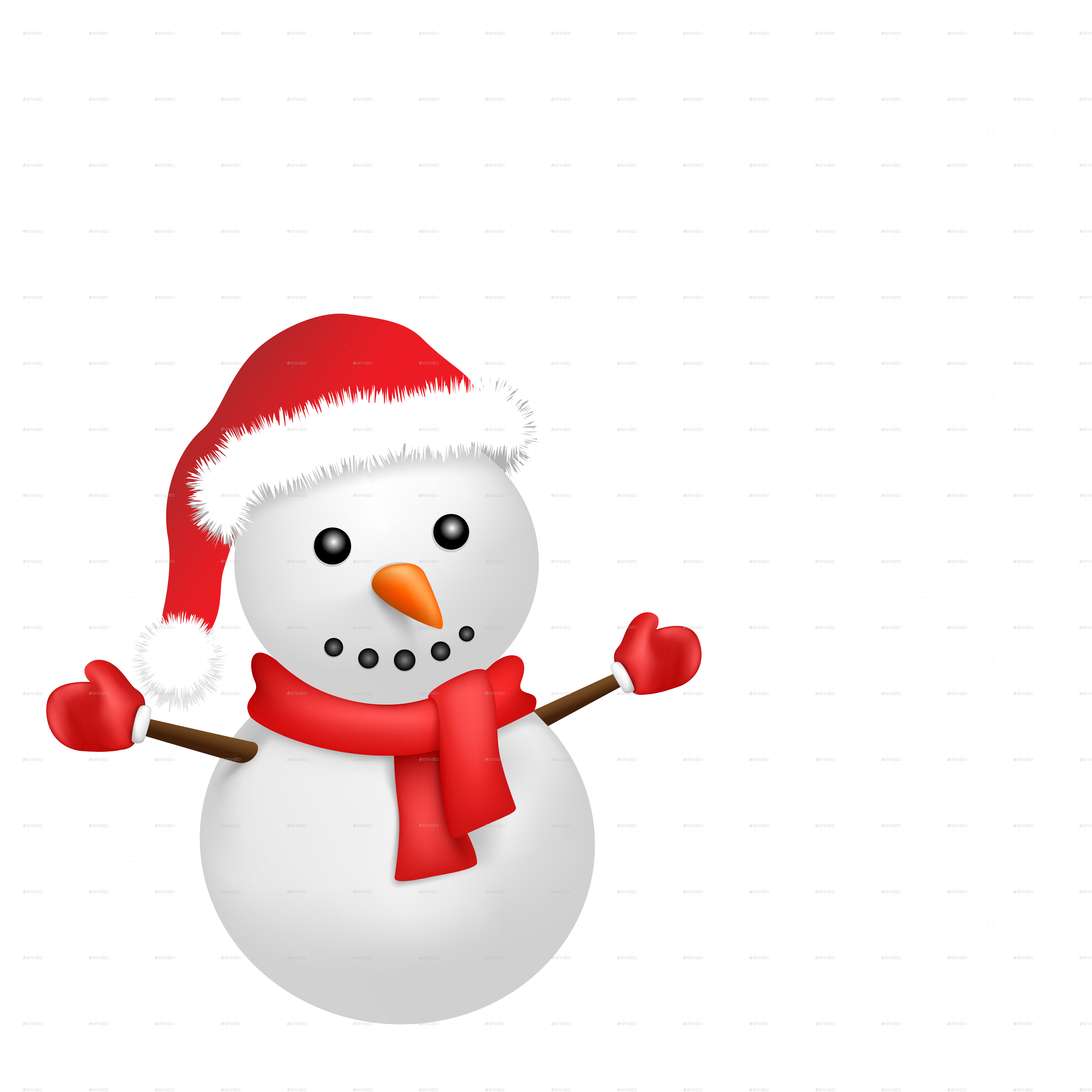 Snowman snowflake banner clipart royalty free library Snowman and Snowfall by romvo | GraphicRiver royalty free library