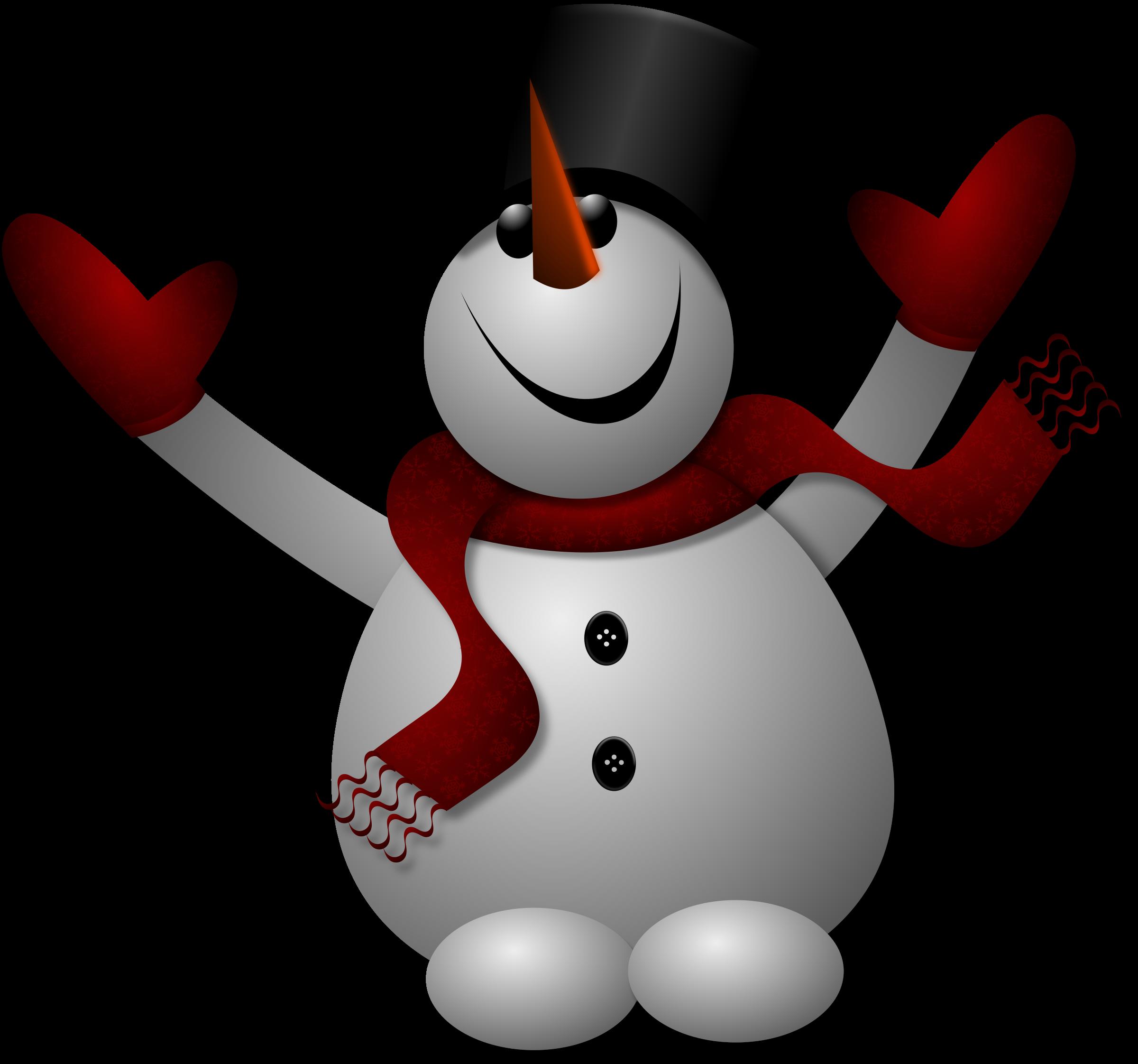 Snowman snowflake clipart svg transparent stock Clipart - Happy Snowman 1 svg transparent stock