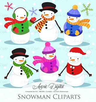 Christmas Snowman - vector clip art - clipart clip art transparent