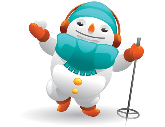 Santa Claus and snowman vector cliparts clip art library download