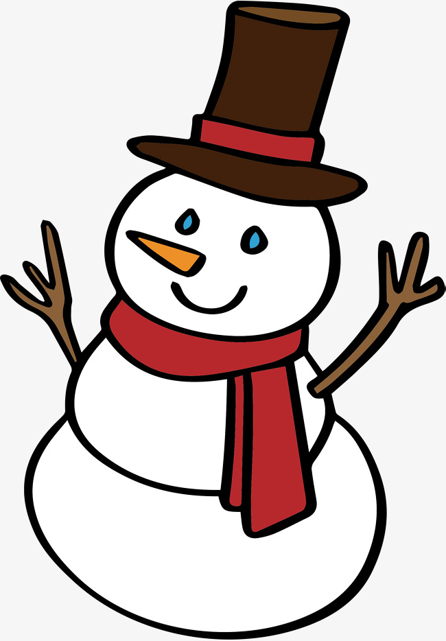 Download Free png Lovely Snowman, Vector Png, Snowman, Cute ... black and white download