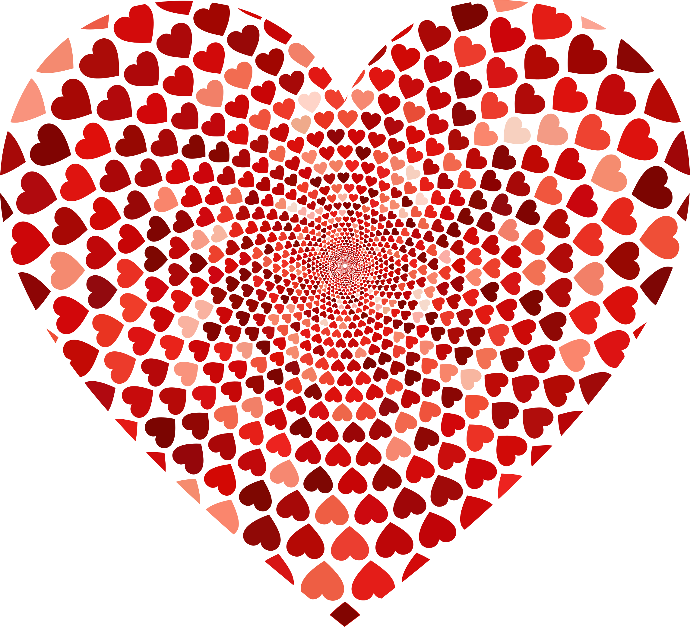 Snowman with heart clipart vector royalty free download Clipart - Prismatic Hearts Vortex Heart 2 vector royalty free download