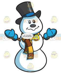 Snowman with scarf clipart clip art royalty free A Snowman With Scarf clip art royalty free