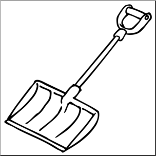 Snowshovel clipart black and white Clip Art: Snow Shovel B&W I abcteach.com | abcteach black and white