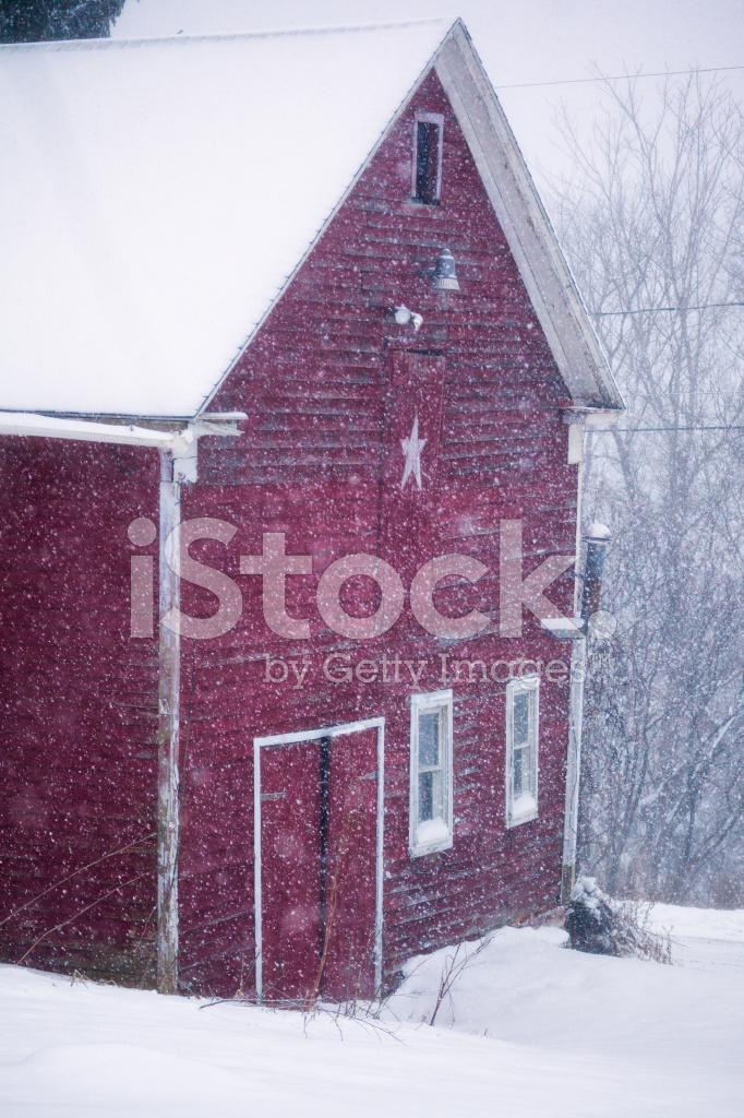 Snow Storm, With Old Red Barn Stock Photos - FreeImages.com clip art transparent stock