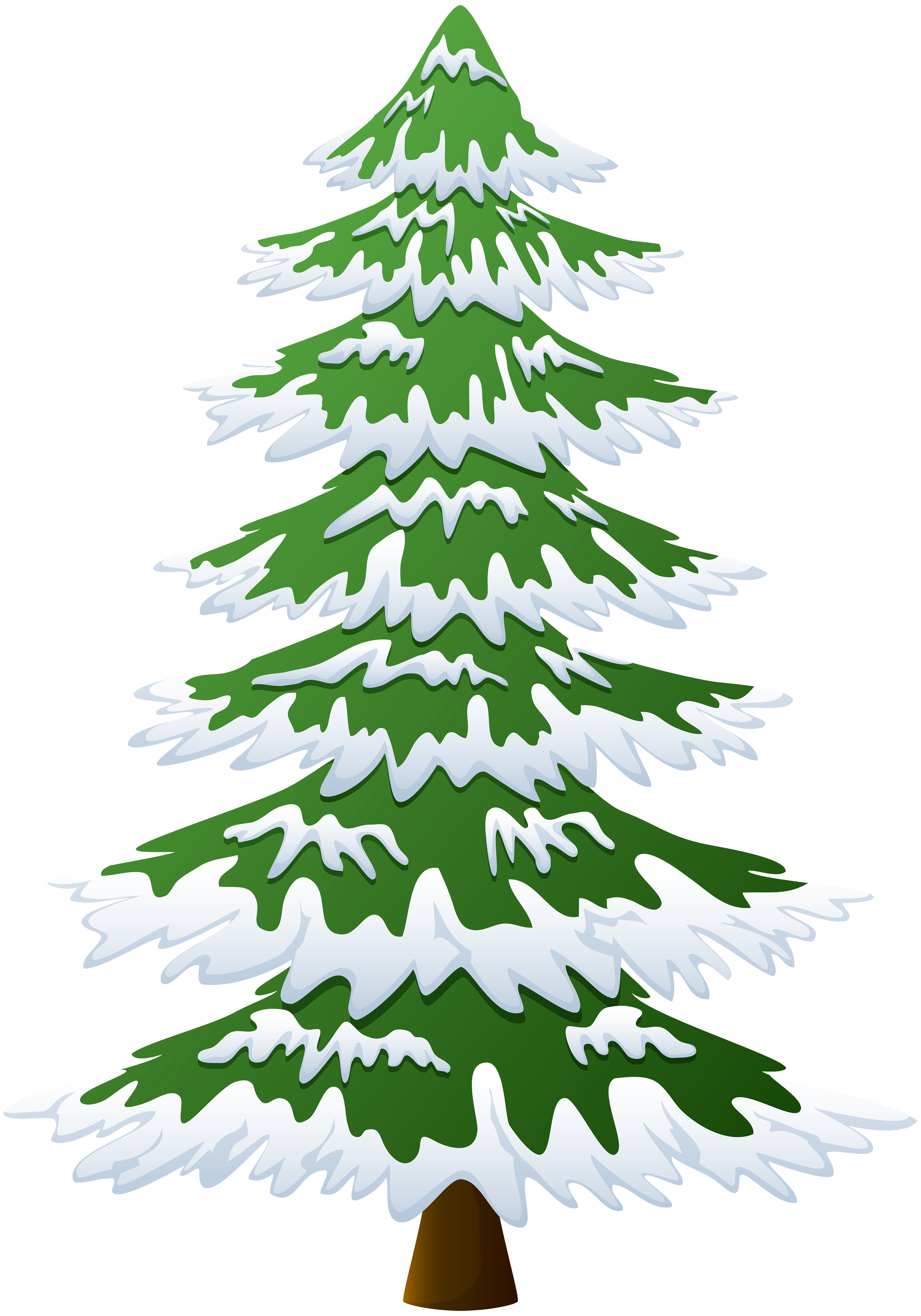 Snowy pine tree clipart image library stock Snowy Pine Tree Transparent PNG Image | Gallery Yopriceville - High ... image library stock