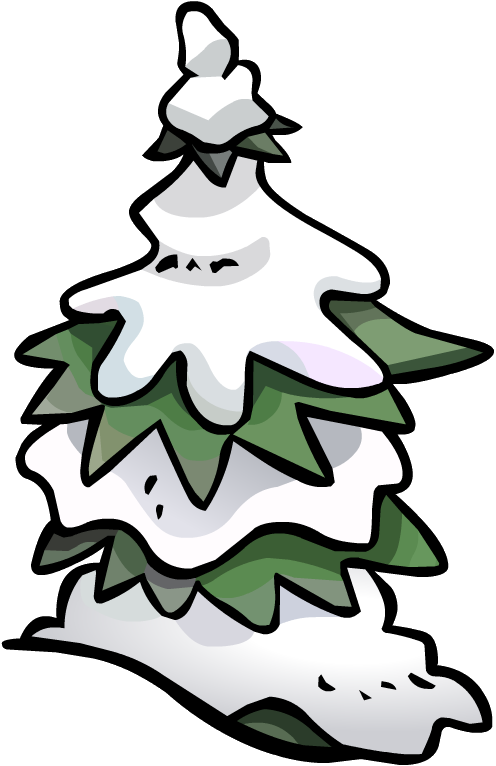 Snowy pine tree clipart image freeuse stock Image - Pine Tree Snow FORT 4.PNG | Club Penguin Wiki | FANDOM ... image freeuse stock