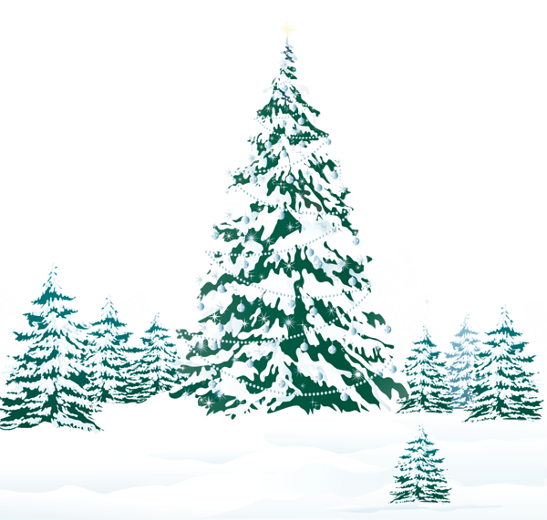 Snowy tree clipart vector free library Snowy Winter Ground with Trees PNG Clipart Image | New Year ... vector free library