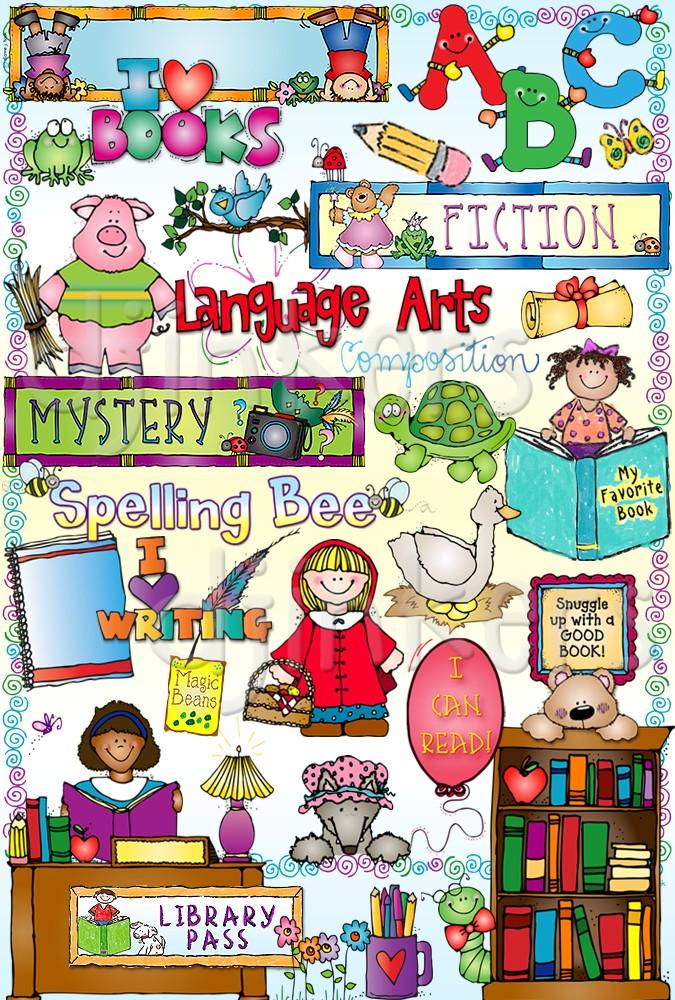 Snuggle up to a good book clipart clip 88+ Language Arts Clip Art   ClipartLook clip