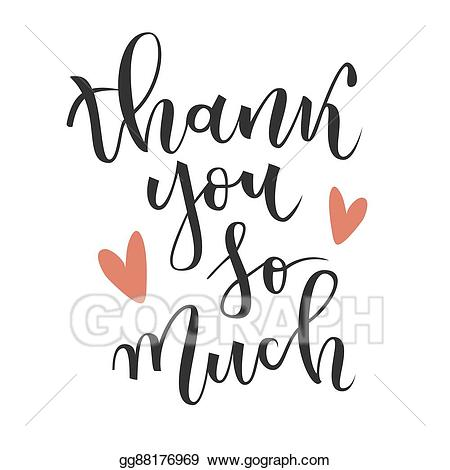 So much clipart png transparent library Vector Clipart - Thank you so much greeting. Vector ... png transparent library