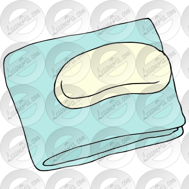 Soap and wash cloth clipart