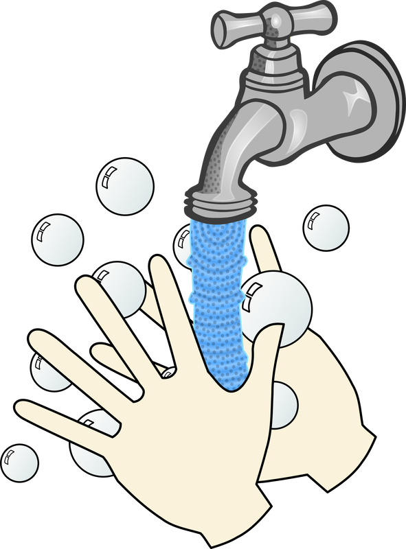 Washing your hands with soap and water vector clipart image ... free