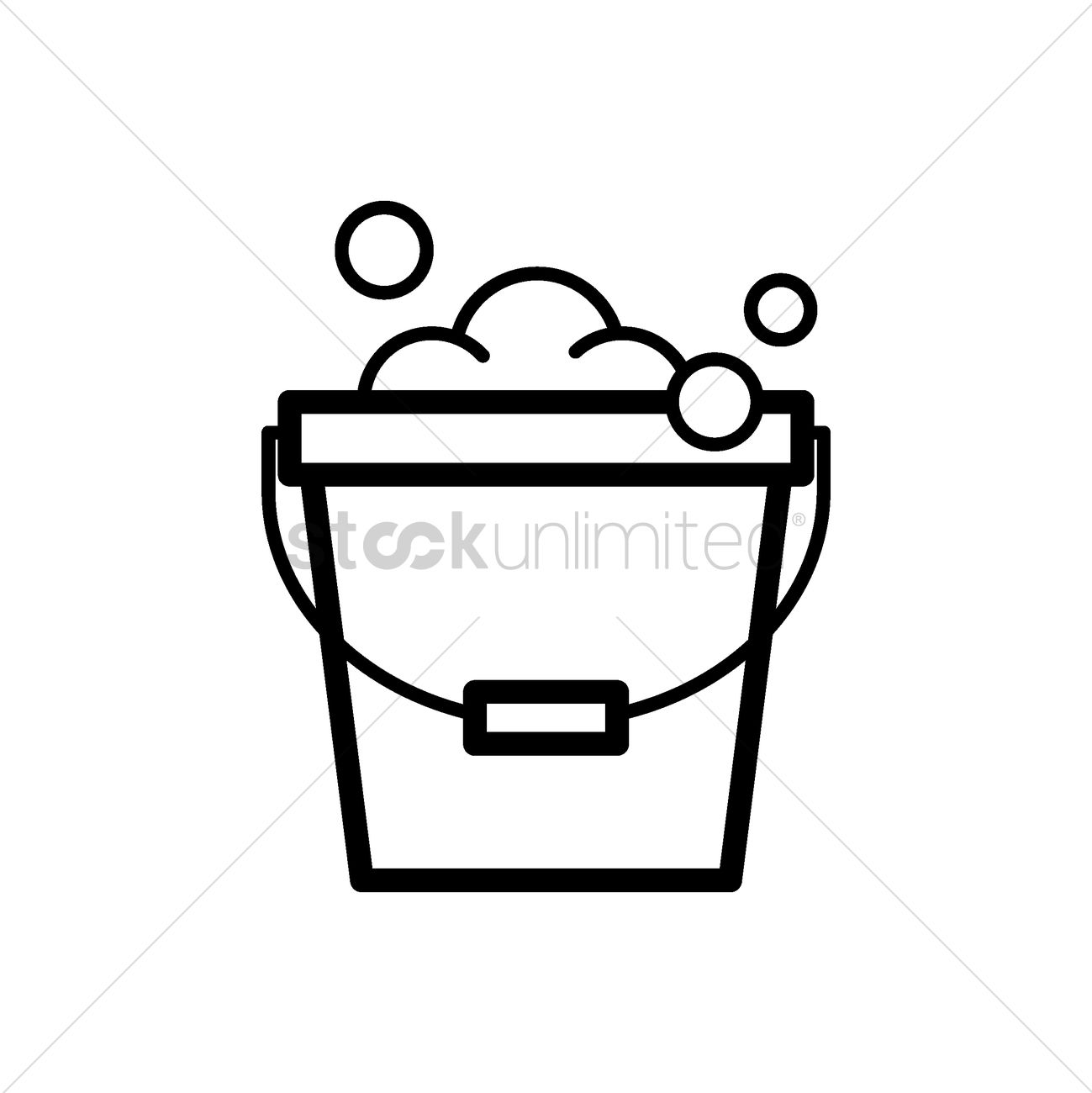 Bucket of water and soap foam Vector Image - 2005147 ... vector freeuse library