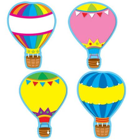 Soar to serve hot air balloon clipart clip black and white download Hot Air Balloons Classroom Decorations & Bulletin Board ... clip black and white download