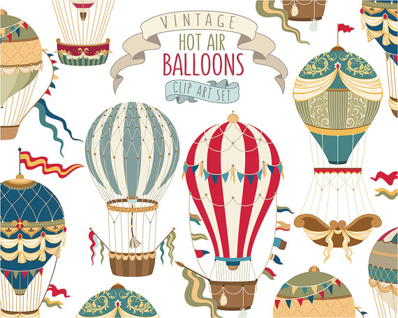 Soar to serve hot air balloon clipart svg freeuse stock Vintage Hot Air Balloon Clipart - Unique Vector, PNG, & JPG ... svg freeuse stock