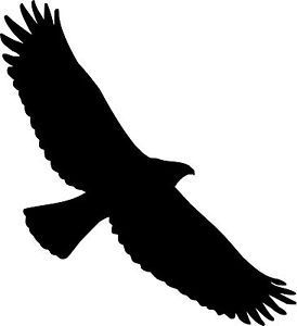 Soaring eagle clipart clipart free stock Soaring Eagle Bird Silhouette Decal Vinyl Sticker Car Van ... clipart free stock