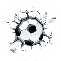 Soccer ball breaking glass clipart transparent background download Racing Soccer Players Sticker download