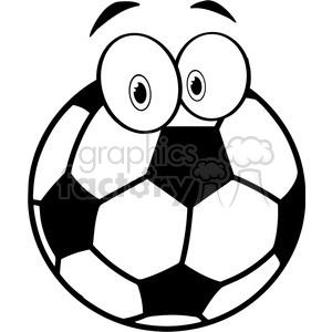 Soccer ball cartoon clipart jpg royalty free library Royalty-Free 102547-Cartoon-Clipart-Soccer-Ball-Cartoon-Character ... jpg royalty free library