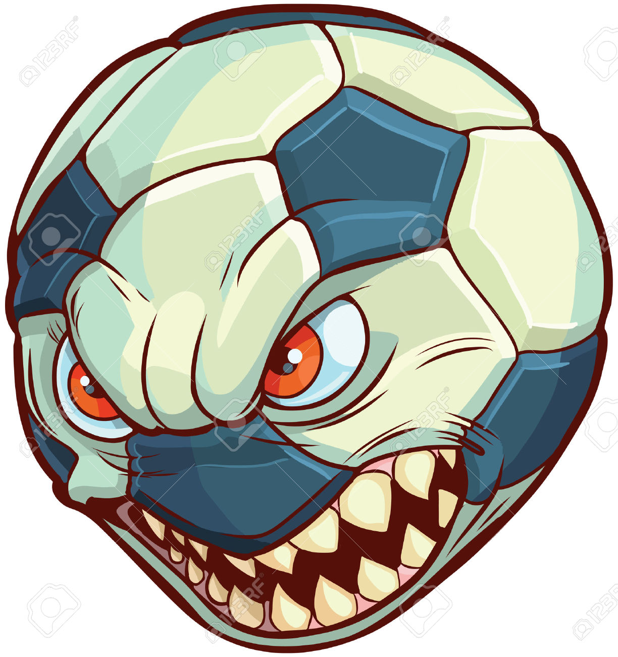 Soccer ball cartoon clipart banner free stock Cartoon Clip Art Illustration Of A Soccer Ball Or Football With ... banner free stock