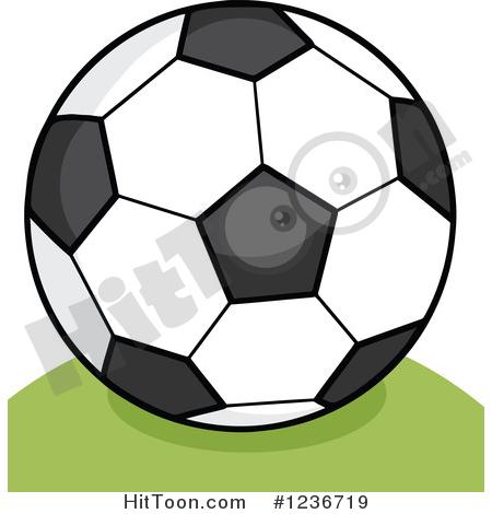 Soccer ball cartoon clipart transparent download Soccer Clipart #1236719: Cartoon Soccer Ball on a Hill by Hit Toon transparent download