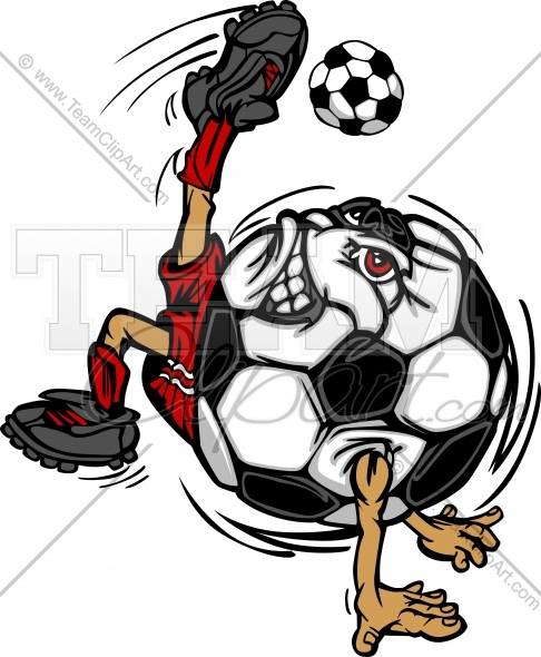 Soccer ball cartoon clipart picture black and white download Kicking Soccer Ball Clipart - Clipart Kid picture black and white download