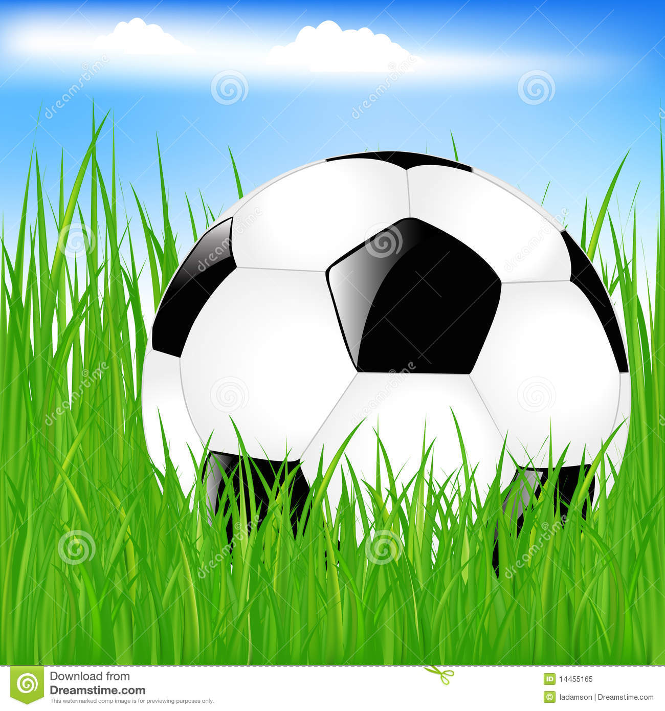 Soccer ball cartoon clipart jpg transparent download Soccer ball on grass clipart - ClipartFest jpg transparent download