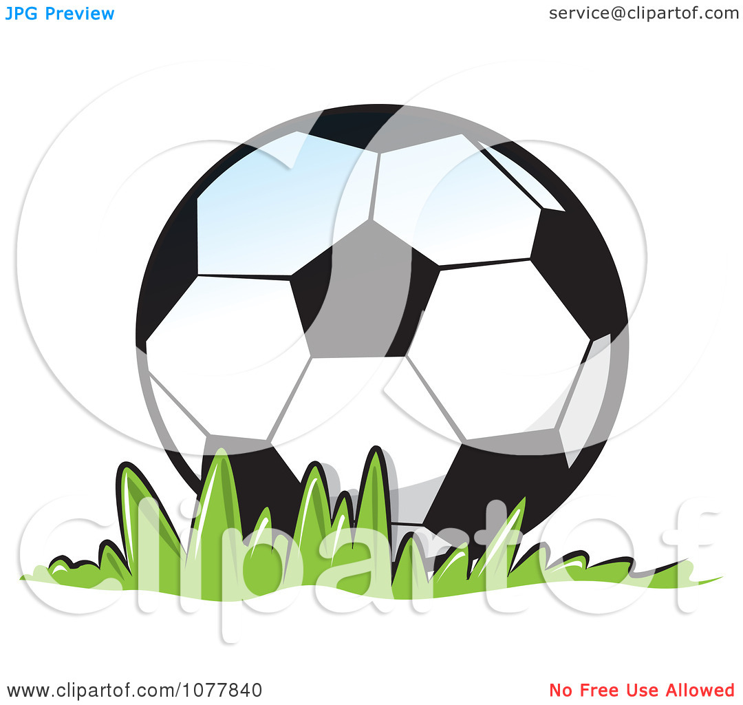Soccer ball cartoon clipart banner freeuse download Clipart Soccer Ball On Grass - Royalty Free Vector Illustration by ... banner freeuse download
