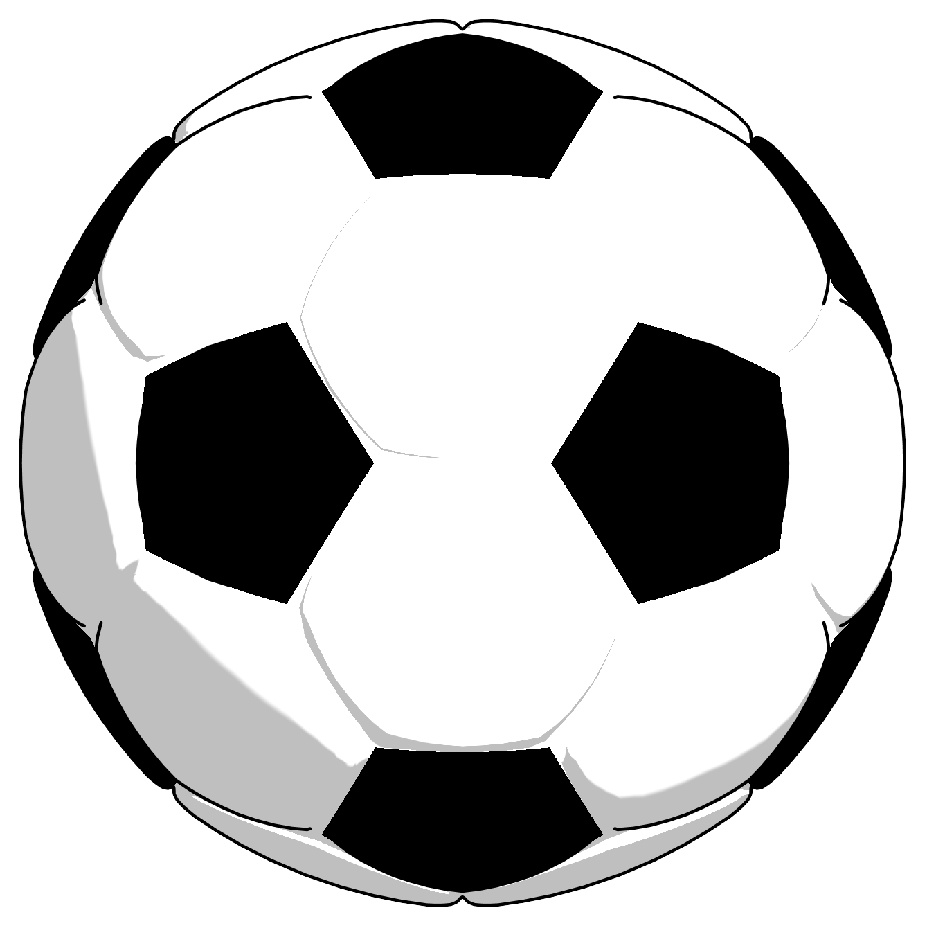 Soccer ball clipart free image royalty free library 28+ Collection of Soccer Ball Clipart Black And White | High quality ... image royalty free library