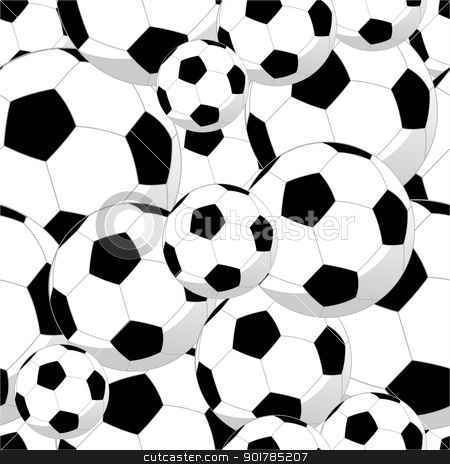 Soccer ball clipart background banner free download Soccer balls seamless pattern stock vector banner free download
