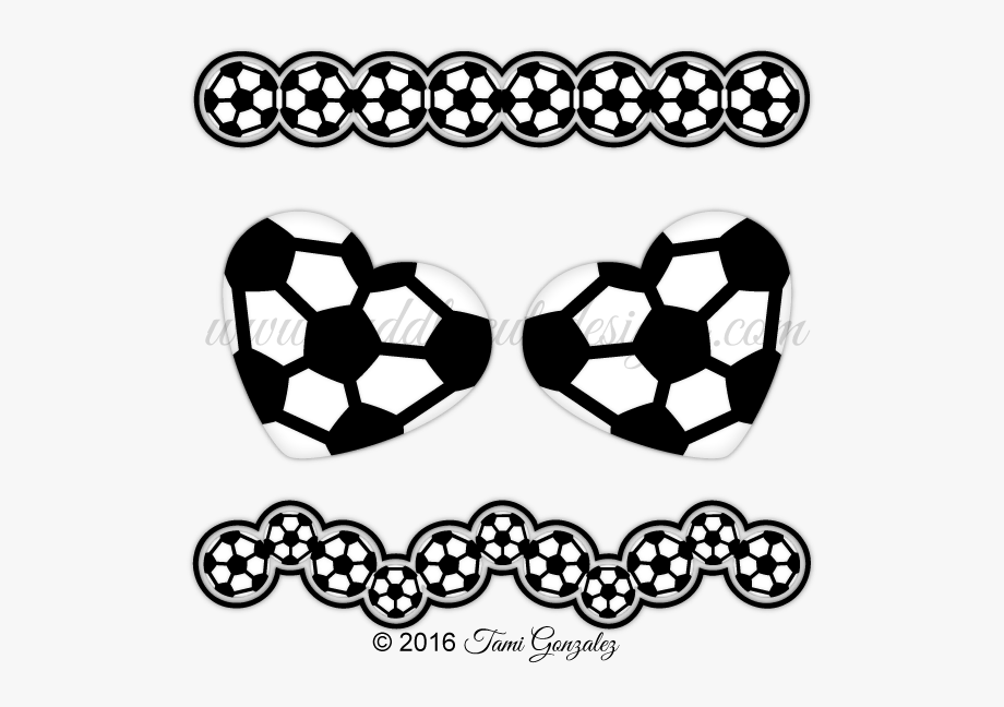 Soccer border clipart image black and white library Soccer Borders Clip Art Sports Music Clipart - Soccer Ball ... image black and white library
