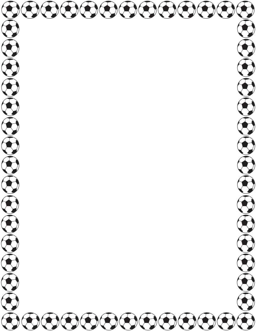 Soccer border clipart picture black and white soccer border page | Fonts - Borders -Clip Art | Borders for ... picture black and white