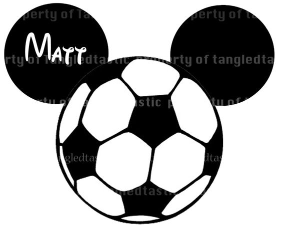 Soccer ball clipart disney png library Mickey Soccer Ball Disney Printable DIY Appliqué Iron On ... png library