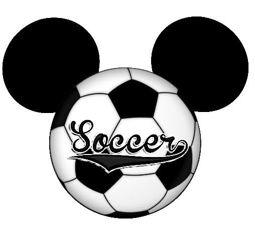 Soccer ball clipart disney png library Soccer Ball Mickey Mouse Ears Printable Iron On Transfer or Use as ... png library