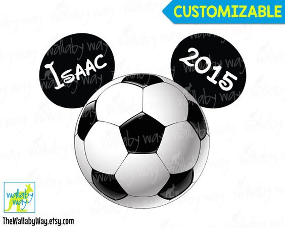 Soccer ball clipart disney graphic freeuse download Soccer Ball Mickey Mouse Ears Printable Iron On Transfer or Use as ... graphic freeuse download