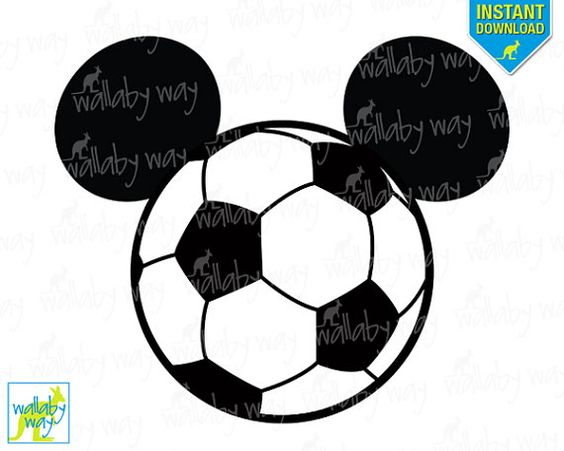 Soccer ball clipart disney image freeuse library Soccer Mickey Mouse Design Printable Iron On Transfer or Use as ... image freeuse library