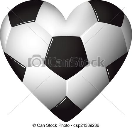 Soccer ball clipart eps png free download Vectors of Heart shaped football - soccer - ball illustration ... png free download