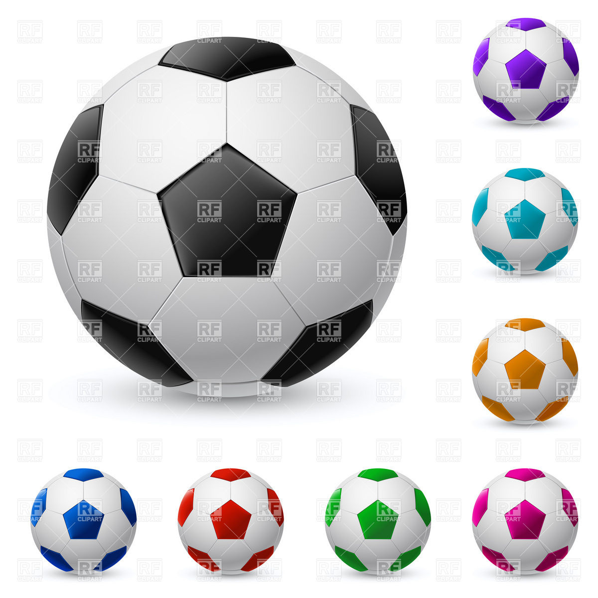 Soccer ball clipart eps jpg black and white download Generic soccer ball Vector Image #7950 – RFclipart jpg black and white download