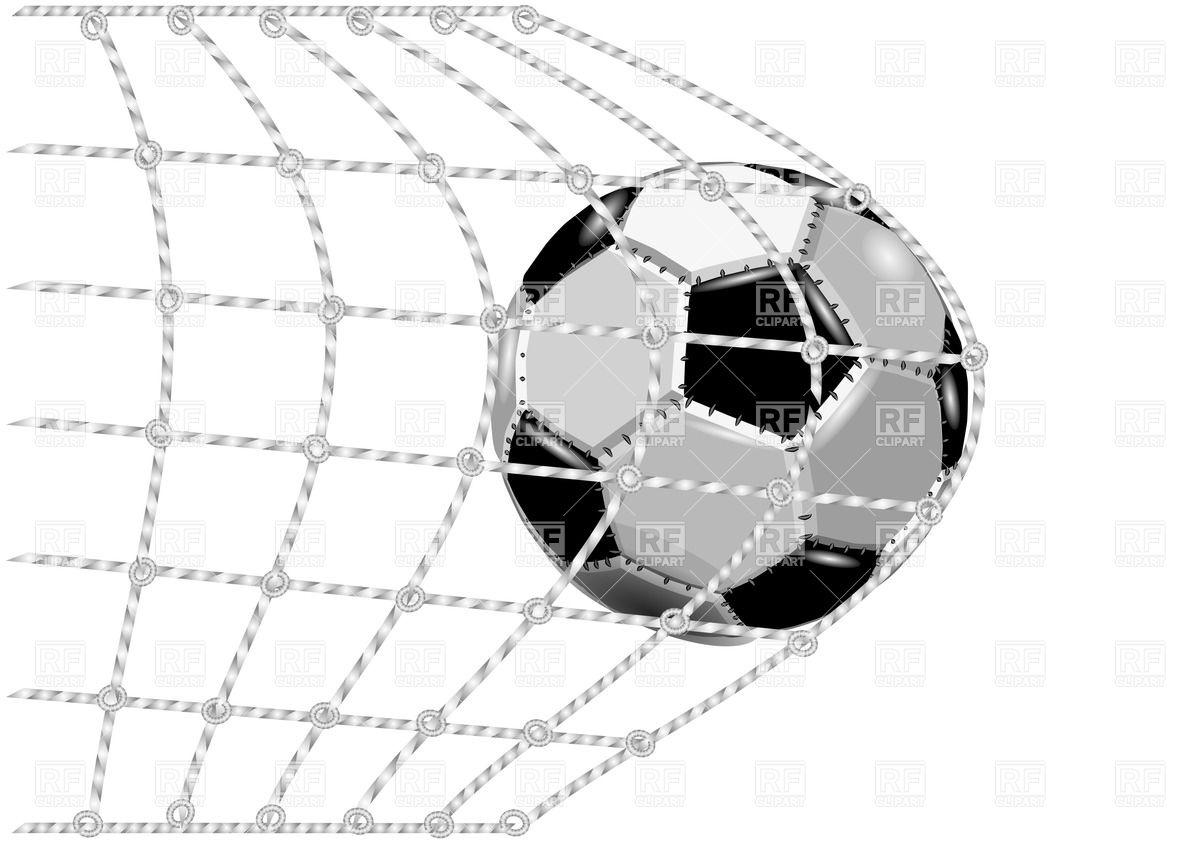 Soccer ball clipart eps jpg library download Soccer ball in the net gate - goal Vector Image #31978 – RFclipart jpg library download