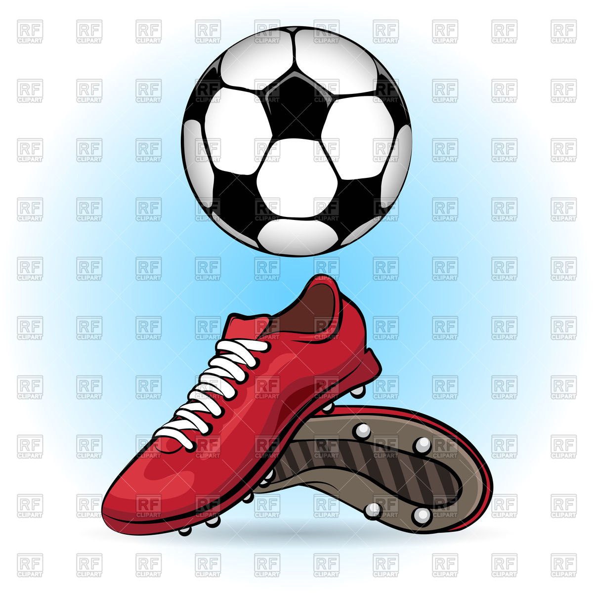 Soccer ball clipart eps vector Sporting shoes and soccer ball - football boots Vector Image ... vector