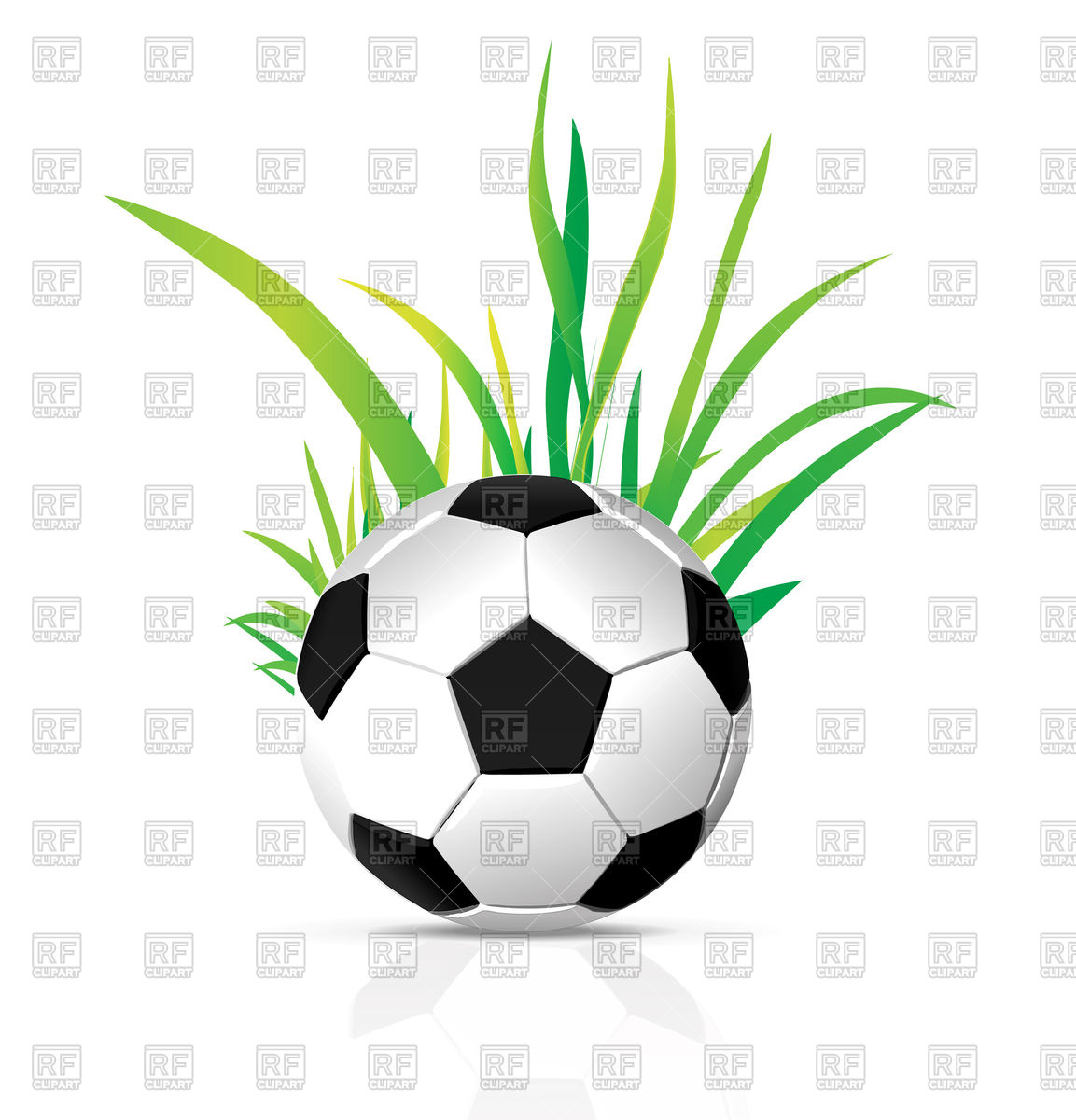 Soccer ball clipart eps picture library download Soccer ball with grass Vector Image #74432 – RFclipart picture library download