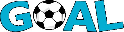 Soccer ball clipart goal svg royalty free Goal Word with Soccer Ball Clip Art - Goal Word with Soccer Ball Image svg royalty free