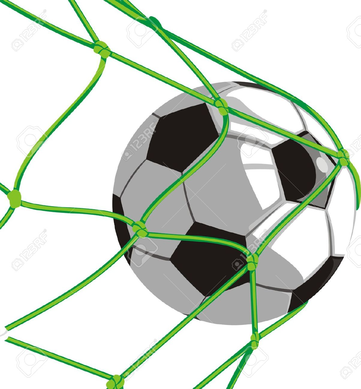 Soccer ball clipart green png library download Soccer ball and goal clipart - ClipartFest png library download