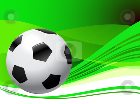 Soccer ball clipart green png free Soccer Ball on abstract green Background stock vector png free