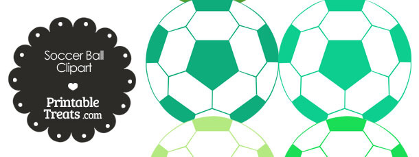 Soccer ball clipart green picture free Soccer Ball Clipart in Shades of Green — Printable Treats.com picture free