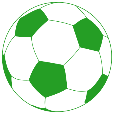 Soccer ball clipart green png library stock File:Soccerball-green.svg - Wikimedia Commons png library stock