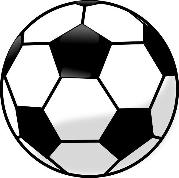 Soccer Ball clip art Free vector in Open office drawing svg ... clip black and white library